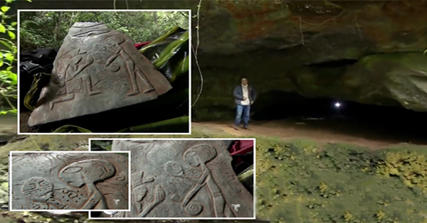 4 1 - Jade stones describing alien contact found in a cave in Mexico