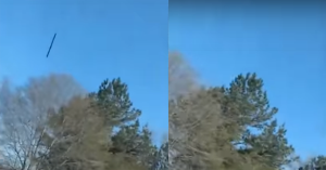 Unidentified flying object in cigar form recently registered in Georgia 1