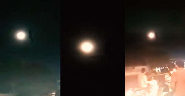 12edxc - Gigantic Strange Object Appears Next to The Moon in Indonesia
