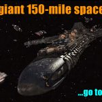 Three giant 150 mile spacecraft go to earth 150x150 - Three giant 150-mile spacecraft go to earth