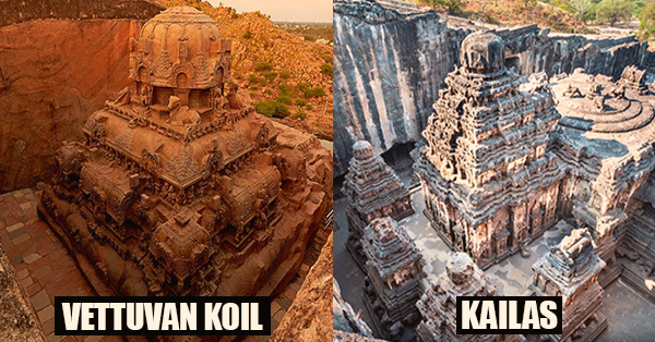 332 - Vettuvan Koil Temple is a MODEL of the Kailasa Temple - unique stone carving