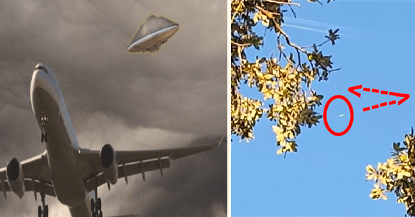 332Untitled 2 - UFO changed its flight address to pursue a high-speed plane - Texas (video)