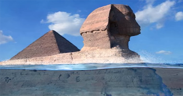 5555and sphinx underwarter - A new study concludes that the pyramids and sphinx were immersed in ancient and pre-Eu-Egyptian civilization