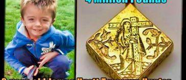 4 Million Pounds treasure 364x156 - Treasure Hunter: 3-year-old James Hyatt  finds 4 million in the UK