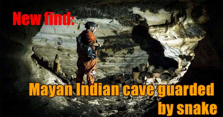 New find 758x398 - New find: Mayan Indian cave guarded by snake