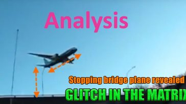 Stopping bridge plane revealed 364x205 - Glitch in the Matrix - Airliners and Army Jets Suspended in the Mid Air - Caught on Camera