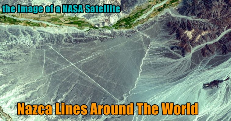 the image of a NASA satellite nazca lines 758x398 - This happens when you extend Nazca lines around the world (video)