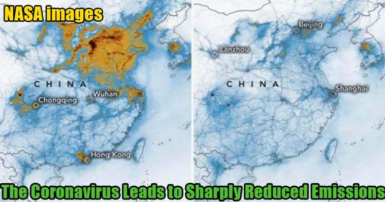 The coronavirus leads to sharply reduced emissions 758x398 - NASA images: The coronavirus leads to sharply reduced emissions