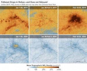 NASA images: The coronavirus leads to sharply reduced emissions 1