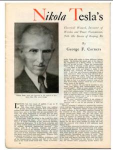 Hidden world - 300 unpublished documents of Nikola Tesla finally published 1