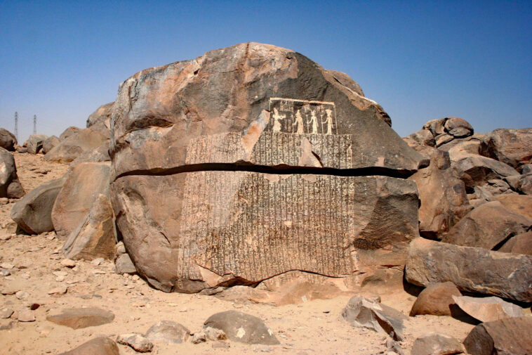 Sehel steleFamine 758x505 - Famine Stela in Ancient Egypt In 1708 BC.