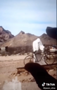 Google Earth user discovers 'creepy men standing in a circle' in deserted ghost town - Goldwell Open Air Museum 1